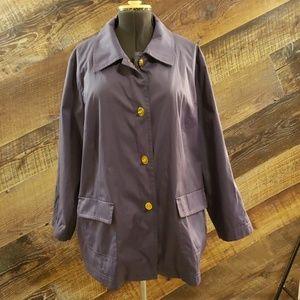 Isaac Mizrahi Live purple rain coat SZ 3X